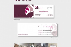 TZAR Agency... Visual identity and business card for Mrs Wilde, interior designer.
